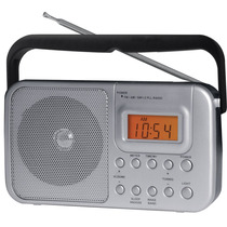 Rádio Portátil Sintonia Dig. Alarme Reloj - Coby