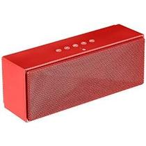 Amazonbasics Altavoz Bluetooth Portátil - Rojo