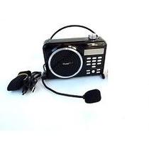 Megafono Altavoz Bocina Fm Micro Sd Usb Microfono Radio Rec