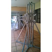 Estructura Tipo Porteria Con Elevadores De Cubo