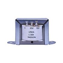 Transformador De Linea Radson Para 25 Y 70 Volts, 10 Watts