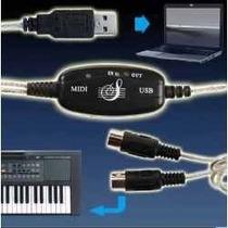 Cable Adaptador Usb A Interface De Teclado Pc Midi, Laptop