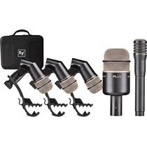 Microfonos Para Bateria Kit Electro Voice Pl-dk4 Plus