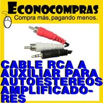 Cable Rca 3.5mm Auxiliar Para Autoestereos 100% Nuevo
