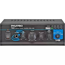 Pyle 80w Mini Stereo Power Amplifier Con Usb / Entradas Auxi