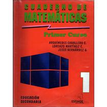 Libro: Cuaderno De Matemáticas 1 Envío $30