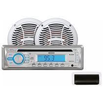 Jensen Cd-am-fm Marino Contra Agua 160 Watts Con Bocinas 6.5