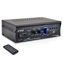 Pyle Pcau48bt Bluetooth Mini Serie Azul Stereo Power Amplifi