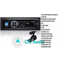 Autoestereo Alpine Cde-143bt Bluetooth Usb Aux Cd