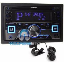 Alpine Cde-w265bt Double Din Bluetooth Cd/mp3 Iphone/ipod