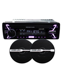 Combo Autoestereo + Bocinas 6.5 Bluetooth Aux Usb Sd Fm Rca