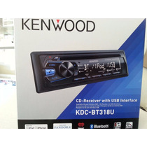 Estereo Kenwood Kdc-bt318u Cd,bluetooth,mp3,usb,aux Frontal