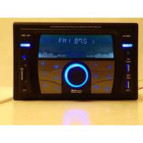 Autoestereo 2din Rock Series Bluetooth Usb Sd Aux Sm Am Fm