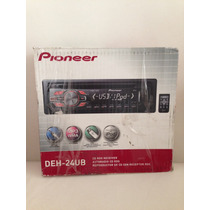 Autoestereo Pioneer Deh-24ub Usb Aux Mp3 Wma Control