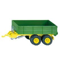 Farm Toy Trailer - Siku Doble Eje Verde 1:32 Miniatura