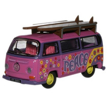 Diecast Model - Oxford 1:76 Vw Minibus Surfboards Flor
