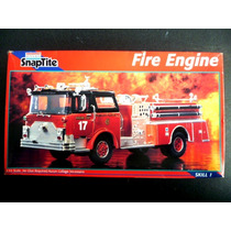 Monogram Snap Tite Fire Engine Camion De Bomberos 1:32