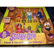 Set Completo Figuras De Plastico Scooby Doo 10 Figras Nuevo