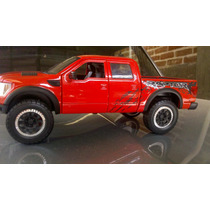 Camioneta For F 150 Svt Ractor Scale 1/24 Color Roja Collect
