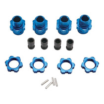 Traxxas 6856x 17mm Wheel Hub Set Short Blue Slash 4x4 (4)
