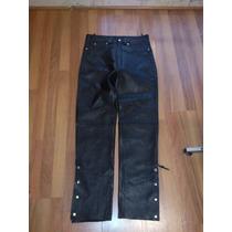 Pantalon Talla 34 Pulgadas De Cintura, 100% Leather,