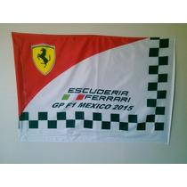 Banderas Formula 1 Gran Premio México / Ferrari / Checo
