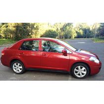 Nissan Tiida Advance Color Rojo Burdeos Cambio