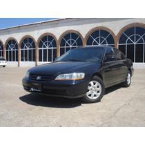 Honda Accord Ex 2002 Negro Piel 4 Cilindros