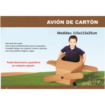 Avion De Carton, Avionsito Para Niños, Para Pintar, Armable