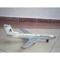 Avion Boeing 727 Mexicana De Lamina Antiguo - De Colección