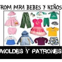 Kit Imprimible Ropa De Bebes, Niños Moldes, Patrones, Diseño
