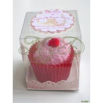 Cupcake Kekito Sencillo Recuerdo Toalla Facial 10 Piezas