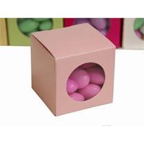 10 Cajitas De Cartón Con Ventana De Acetato Personalizadas
