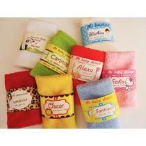 10 Recuerdo Personalizado Bautizo Baby Shower Toallita Color