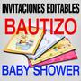 Invitaciones Baby Shower Bautizo Vectores 1000 Fondos Gratis