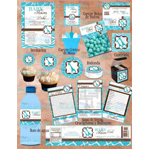 Kit Baby Shower Jirafa- Invitaciones Baby Shower