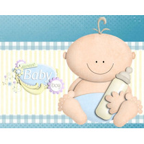 Kit Imprimible Baby Shower Nene Diseñá Tarjetas Y Mas