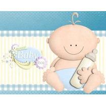 Kit Imprimible Baby Shower Niño, Invitaciones Y Cajitas