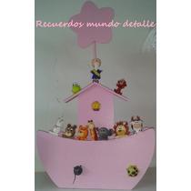 Arca De Noe, Animalitos De Pasta, Centro De Mesa Baby Shower