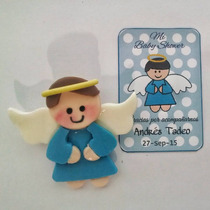 Recuerdos Baby Shower Pasta Francesa Angelitos