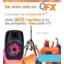 Bocina Amplificada Qfx 15 Bluethoot +2 Microfono + Tripode