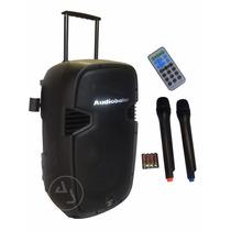 Bafle Amplificado Audiobahn 15 Recargable Bluetooth, Fm, Usb