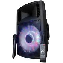 Bafle Amplificado Recargable 12 Iluminado C/mic Inalambrico