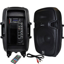 Bafle Bocina Amplificada 15 Pulgadas Bluetooth Usb Sd Mp3