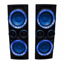 Combo De Torres De Audio Con Mezcladora Integrada Con Leds.