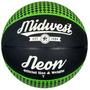 Baloncesto - Midwest Neon Negro Y Verde Tamaño 7 De Goma
