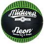 Baloncesto - Midwest Neon Negro Y Verde Tamaño 3 Goma