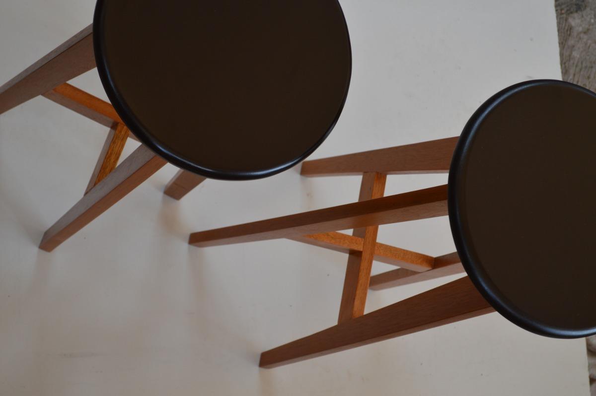 Banco para cocina o bar de madera s lida de banak konetl for Bancos de bar de madera