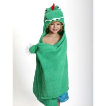 Toalla Para Niño Dinosaurio Verde