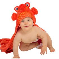 Toalla Para Bebé Cangrejo Rojo